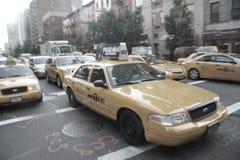 New- York Citytaxis Stockbilder