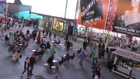 New- York Citytimes square timelapse stock video