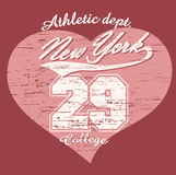 New- York Citytypographie-Grafik-T-Shirt Stockbild