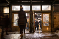 New- York Cityuntergrundbahn-Eingang Lizenzfreies Stockfoto