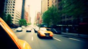 New- York Cityverkehr aus Taxi heraus stock video footage