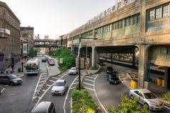 New- York Cityverkehrsreiche straße Lizenzfreie Stockfotos