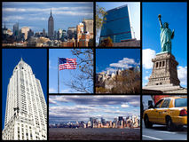 New York collage. A collage of photos of New York City - Postcard from USA royalty free stock photography