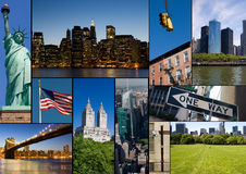 New York collage. A collage of New York City with different famous places and symbol Royalty Free Stock Photography