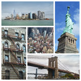 New York collage Stock Images
