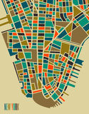 New York colorful city plan. New York vector map. Colorful vintage design base for travel card, advertising, gift or poster Stock Photo