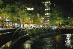 New York Columbus-Kreis und Brunnen. Stockfoto