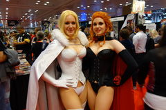 The 2014 New York Comic Con: The dArda Sisters Royalty Free Stock Photo