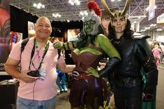 New York Comic Con 2018 Saturday 49 stock image