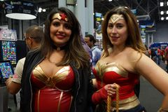 New York Comic Con 2018 Saturday 8 royalty free stock images