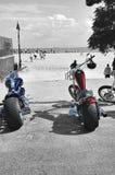 New york coney island beach red blue bikes summer Stock Photo