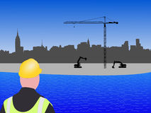 New York construction site Royalty Free Stock Photos