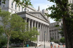 New York County Supreme Courthouse Royalty Free Stock Image
