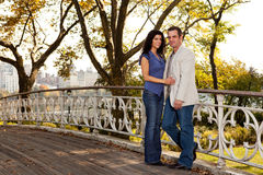 New York Couple Stock Images