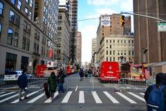 New York crane collapse Stock Photos