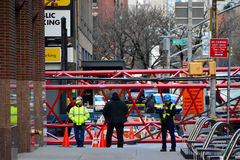 New York crane collapse Royalty Free Stock Images