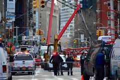 New York crane collapse Royalty Free Stock Photo