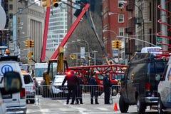 New York crane collapse Royalty Free Stock Photos