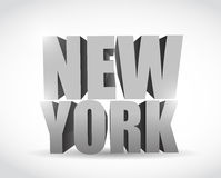New york 3d text illustration design. Over a white background Royalty Free Stock Photography