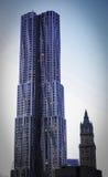 New York da Gehry (torre di Beekman) Fotografie Stock