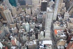 New York da sopra Immagini Stock Libere da Diritti