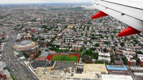 New York dall'aeroplano fotografia stock
