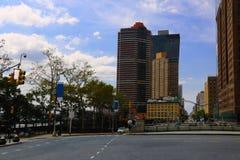 NEW YORK - 26 DE AGOSTO DE 2018: Vista dos arranha-céus em New York imagem de stock royalty free