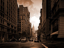 New York de ardência Foto de Stock Royalty Free