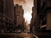New York de ardência Foto de Stock Royalty Free