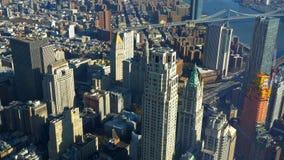 New York de cima de surpreender a vista aérea sobre Manhattan foto de stock