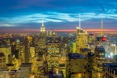 New York - 20 de dezembro de 2013: Vista do Lower Manhattan em Decembe Foto de Stock