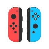 New York - 13 de janeiro: Nintendo comuta a ilustração Vetor isolado manche do console do jogo de vídeo Fotografia de Stock Royalty Free
