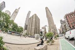 NEW YORK - 13 DE JUNHO: Fachada lisa da construção do ferro o 13 de junho de 2013 Fotografia de Stock Royalty Free