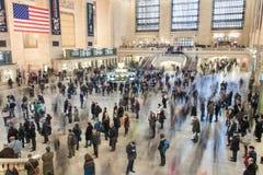 New York - 21 de março de 2013: Foto do lapso de tempo dos assinantes no moti Fotografia de Stock Royalty Free
