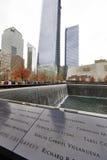New York 9/11 de memorial no ponto zero do World Trade Center Imagem de Stock