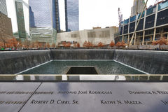 New York 9/11 de memorial no ponto zero do World Trade Center Fotos de Stock Royalty Free