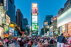 New York - 5 de setembro de 2010: Times Square o 5 de setembro em novo Fotos de Stock
