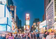 A New York - 5 de setembro de 2010: Times Square o 5 de setembro em novo Fotografia de Stock Royalty Free
