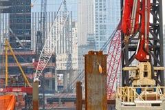 Canteiro de obras do World Trade Center, New York Fotografia de Stock Royalty Free