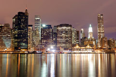 New York de stad in Stock Foto's