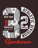 New York 32, de typografievector van de T-shirtsport Stock Afbeeldingen
