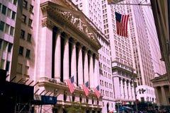 NEW YORK, de V.S. - 31 Augustus, 2018: De Beurs van New York in New York, NY Het is de grootste uitwisseling in de wereld door ma royalty-vrije stock afbeeldingen