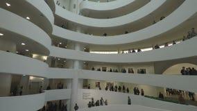 New York, de V.S. binnen Solomon R Guggenheimmuseum van art.