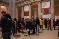 New York, de V.S. - 5 Januari, 2019 Het Metropolitaanse Museum van Kunst in New York royalty-vrije stock afbeelding