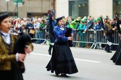 NEW YORK, DE V.S. - 17 MAART, 2015: De jaarlijkse St Patrick Dagparade langs vijfde Weg in New York Royalty-vrije Stock Afbeeldingen