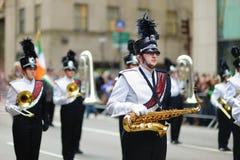 NEW YORK, DE V.S. - 17 MAART, 2015: De jaarlijkse St Patrick Dagparade langs vijfde Weg in New York Royalty-vrije Stock Foto's