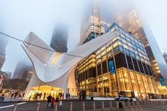 New York, de V.S. - 29 Maart, 2018: Het beroemde Westfield-winkelen ma Stock Afbeelding