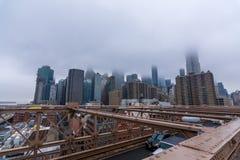 New York, de V.S. - 29 Maart, 2018: Manhattan van de binnenstad met gebouwen Royalty-vrije Stock Fotografie