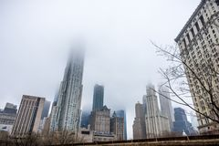 New York, de V.S. - 29 Maart, 2018: Manhattan van de binnenstad met gebouwen Royalty-vrije Stock Afbeeldingen