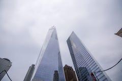New York, de V.S. - 30 Maart, 2018: Moderne gebouwen bij wereldtra Stock Foto's